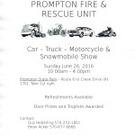 Prompton Car Show 2016 Flyer